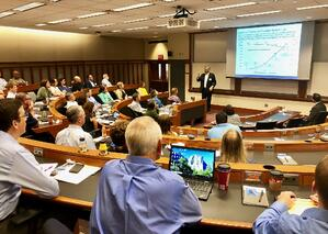 Peter Grimm speaking at the OSU Anticipating Disruption Seminar on September 20