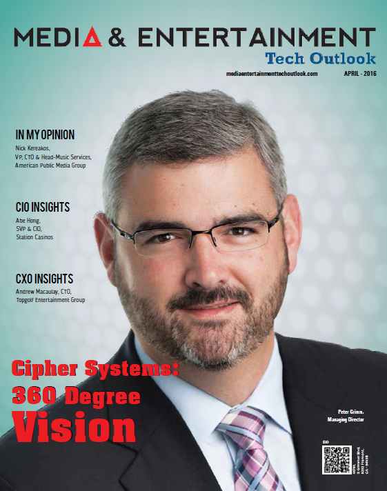Cipher Systems Named a Top 10 Knowledge Management Solution Provider 2016 by Media and Entertainment Tech Outlook