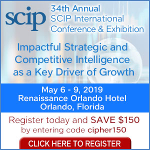 Cipher to Present for the 5th Year at SCIP Conference (May 6-9)