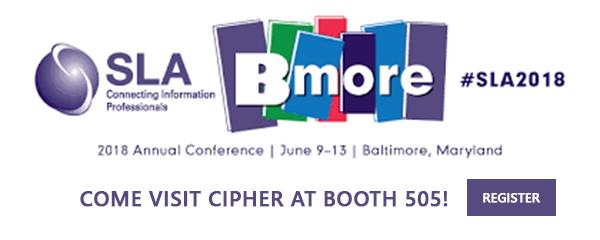 Cipher to Speak at SLA (June 11-13)