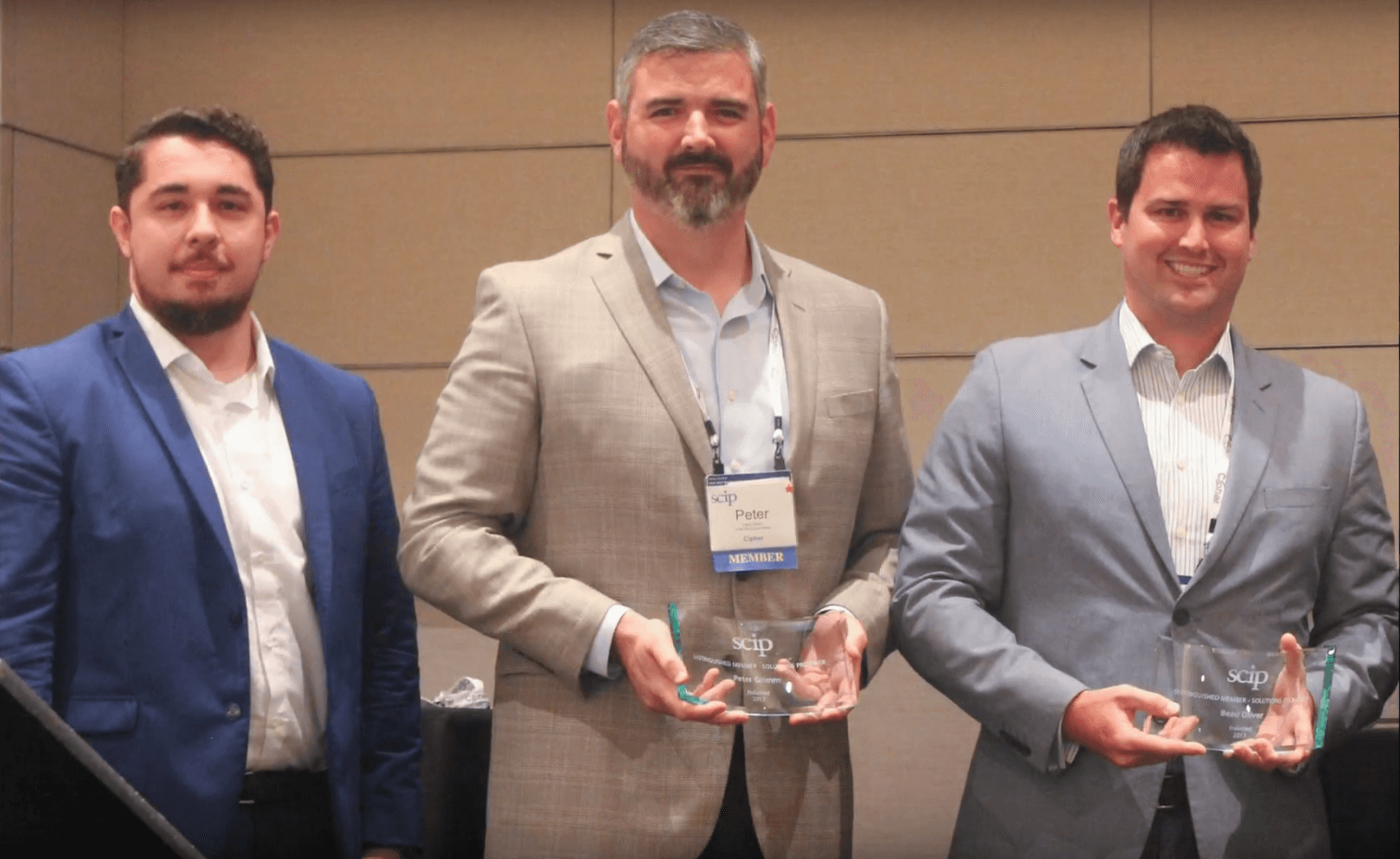 Cipher Recognized By SCIP with Distinguished Member Award