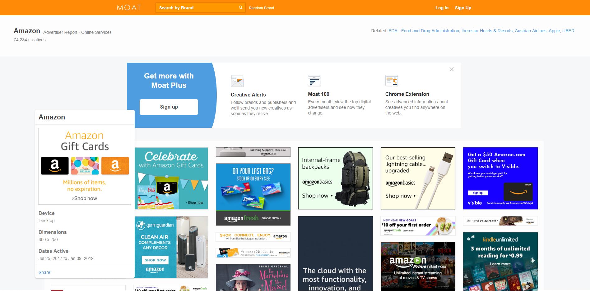 MOAT - Amazon Display Ads